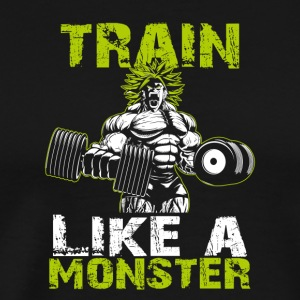 Legendary Broly Train Like A Monster T-Shirt - Men's Premium T-Shirt