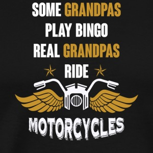 Real Grandpas Ride Motorcycles T Shirt - Men's Premium T-Shirt