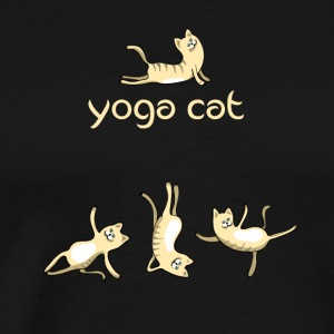 yoga Cat namaste shiva woman fun buddha cute humor - Men's Premium T-Shirt