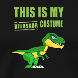 Dinosaur costume cute Green Humor fun carneval lol - Men's Premium T-Shirt