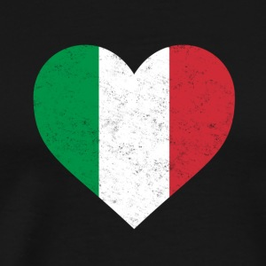 Italy Flag Shirt Heart - Italian Shirt - Men's Premium T-Shirt