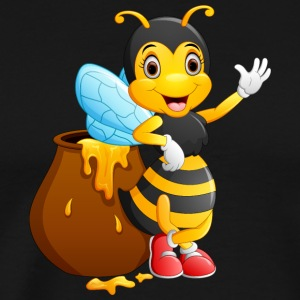 Bee insect honey wildlife vector image smile cool - Men's Premium T-Shirt