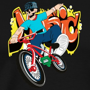 Bike skeleton rap hip hop vector illustration cool - Men's Premium T-Shirt