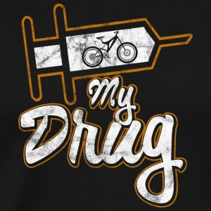 Distressed - My drug is mountainbiking - Men's Premium T-Shirt