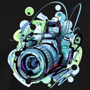 Cool camera sketch vector image abstract awesome - Men's Premium T-Shirt