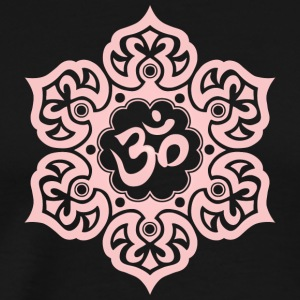 Pink Lotus Flower Yoga Om - Men's Premium T-Shirt