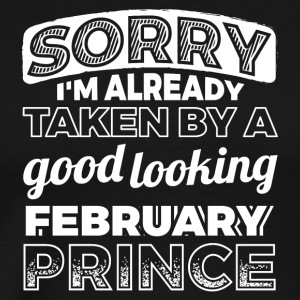 Funny Birthay Party Shirt february prince - Men's Premium T-Shirt