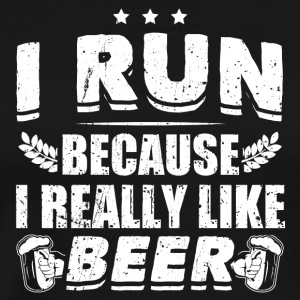 Funny Beer Party Shirt Run Like Beer - Men's Premium T-Shirt