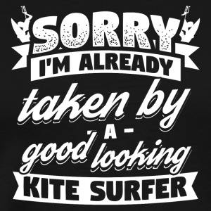Funny Kitsurfing Kitesurfer Shirt Already Taken - Men's Premium T-Shirt