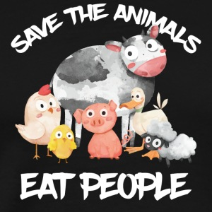 Save the Animals eat people - Men's Premium T-Shirt