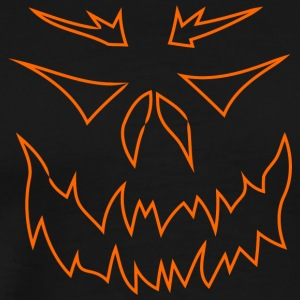halloween outline face - Men's Premium T-Shirt