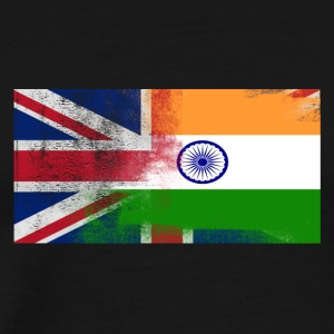 British Indian Half India Half UK Flag - Men's Premium T-Shirt