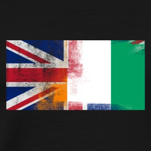 British Ivorian Half Ivory Coast Half UK Flag - Men's Premium T-Shirt