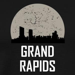 Grand Rapids Full Moon Skyline - Men's Premium T-Shirt
