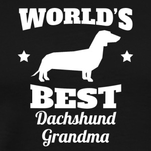 Worlds Best Dachshund Grandma - Men's Premium T-Shirt