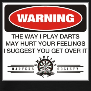 Smartass Darters Society - A Dart Players Warning - Men's Premium T-Shirt