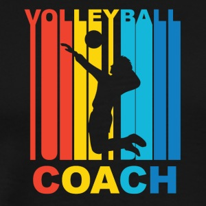 Vintage Volleyball Coach Graphic - Men's Premium T-Shirt