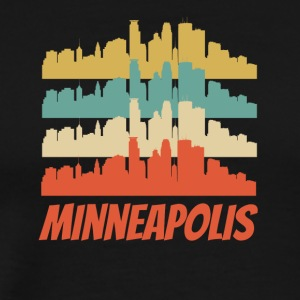Retro Minneapolis MN Skyline Pop Art - Men's Premium T-Shirt