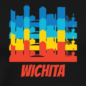 Retro Wichita KS Skyline Pop Art - Men's Premium T-Shirt