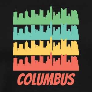 Retro Columbus OH Skyline Pop Art - Men's Premium T-Shirt