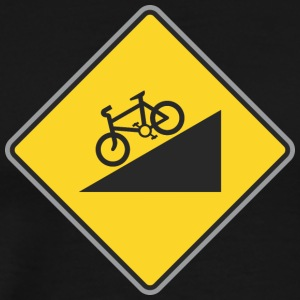 Road_Sign_angle_bicycle_way - Men's Premium T-Shirt