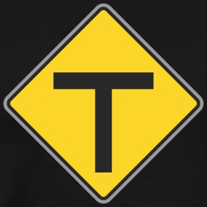 Road_Sign_T_yellow - Men's Premium T-Shirt