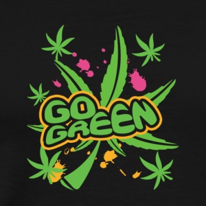 Neon Pot Leaf - Men's Premium T-Shirt