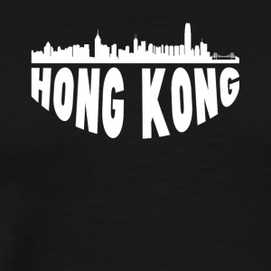 Hong Kong China Cityscape Skyline - Men's Premium T-Shirt