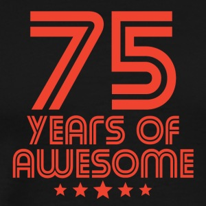 75 Years Of Awesome 75th Birthday - Men's Premium T-Shirt