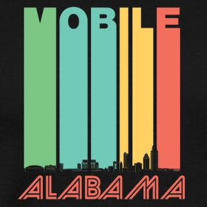 Retro Mobile Alabama Skyline - Men's Premium T-Shirt