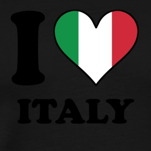 I Love Italy Italian Flag Heart - Men's Premium T-Shirt