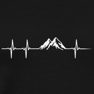 Make a heartbeat design for Mountain - Men's Premium T-Shirt