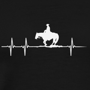 Make a heartbeat design for Horseriding - Men's Premium T-Shirt