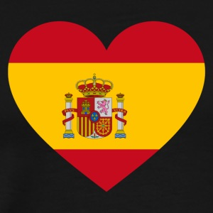 Spain Flag Love Heart Patriotic Pride Symbol - Men's Premium T-Shirt