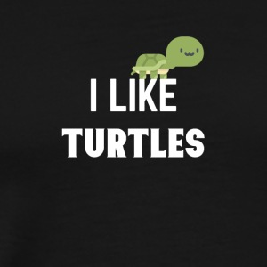 I like turtles - Men's Premium T-Shirt