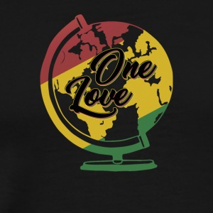 One Love T-Shirt Rasta Reggae Men World Gift - Men's Premium T-Shirt