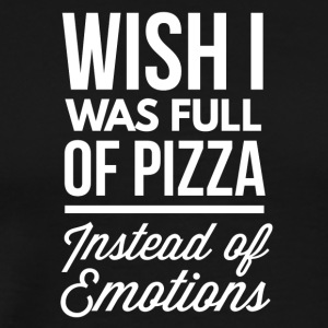 Pizza instead of emotions - Men's Premium T-Shirt
