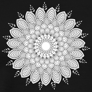monochrome flower mandala vintage decorative - Men's Premium T-Shirt