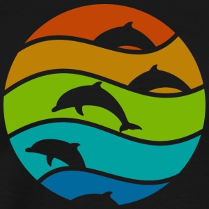 dolphin art - Men's Premium T-Shirt