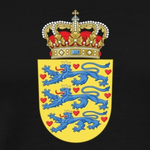 National Coat Of Arms Of Denmark - Men's Premium T-Shirt