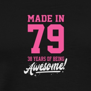 Birthday Made in 1979 - 28 years of being awesome - Men's Premium T-Shirt
