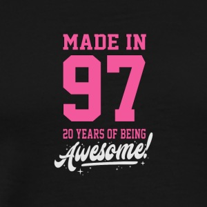 Birthday Made in 1997. 20 years of being awesome - Men's Premium T-Shirt