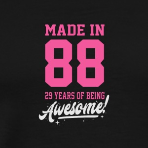 Birthday Made in 1988 - 29 years of being awesome - Men's Premium T-Shirt