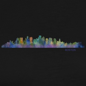 Boston Massachusetts Skyline in watercolor digital - Men's Premium T-Shirt