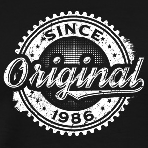 Vintage Original Since 1986 Birthday Shirt - Men's Premium T-Shirt