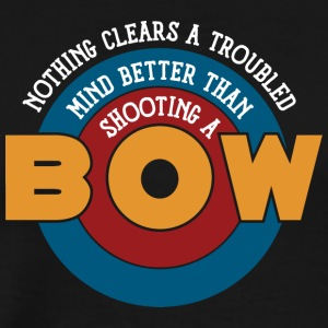 Shooting a bow clears a troubled mind - Men's Premium T-Shirt