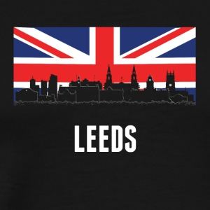 British Flag Leeds Skyline - Men's Premium T-Shirt