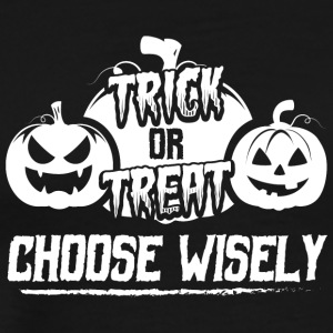 Scary Halloween Costume Shirt Choose Wisely - Men's Premium T-Shirt