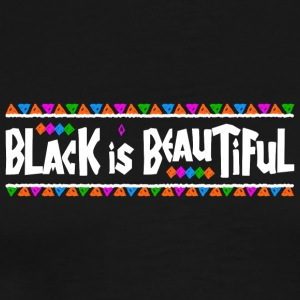 Black Is Beautiful (White Letters) - Men's Premium T-Shirt