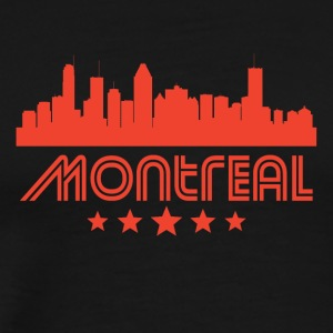 Retro Montreal Skyline - Men's Premium T-Shirt